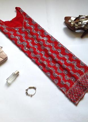 Красная туника блуза с бисером. смотрите мои объявления!