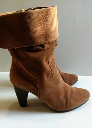 Классные замшевые сапожки, ботиночки  (сапоги, ботинки, полуботинки) 5th avenue