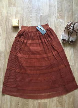 Шикарная юбка миди