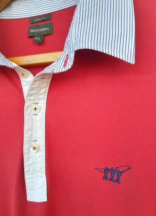 Трикотажная рубашка от итальянского бренда henry cotton's, р. xxl