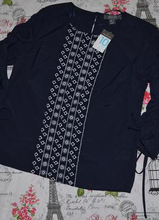 Блуза с вышивкой primark 10 размер