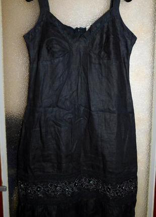 Платье...сарафан, вышивка, лён, бренд old navy, оригинал,покупка с франции, акция!