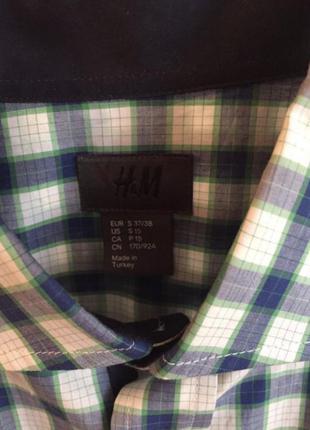 Рубашка в клетку h&m, s