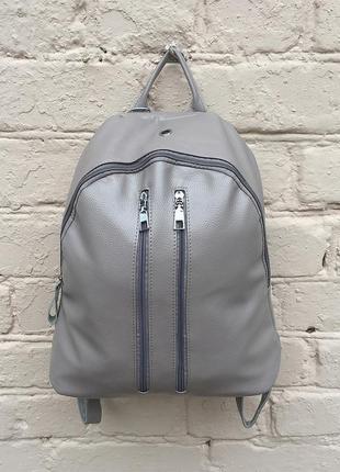 Рюкзак large «пастельный серый» 2 цвета (бесплатная доставка)