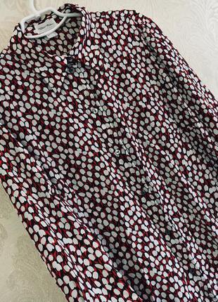 Блузка-рубашка с длинным рукавом