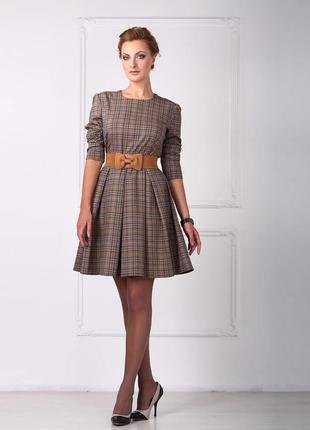 Платье клетчатое с юбкой в складку от anna yakovenko