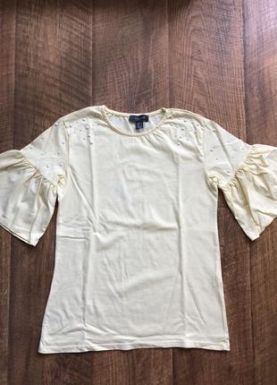 Красивая футболка с рукавами воланами primark