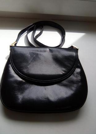 Компактная сумочка кожа
