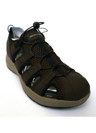 Skechers мягкие коричневые мужские сандалии закрытый носок