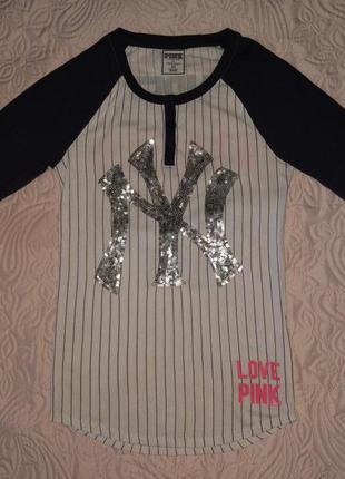 Брендовая кофта футболка victoria's secret pink