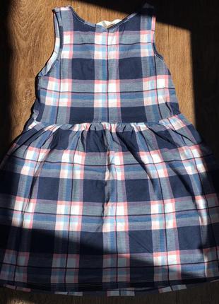 Сарафан/ платье h&m летнее из 100% хлопка на девочку 110-116см2