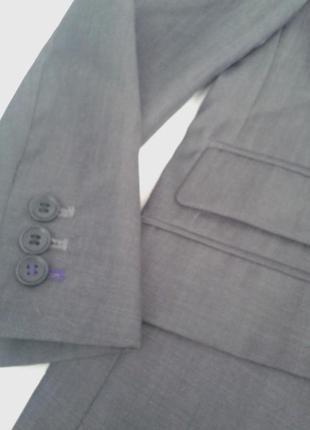 Новый серый пиджак на 11 лет