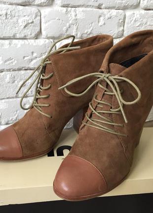 Ботинки деми кожа замша