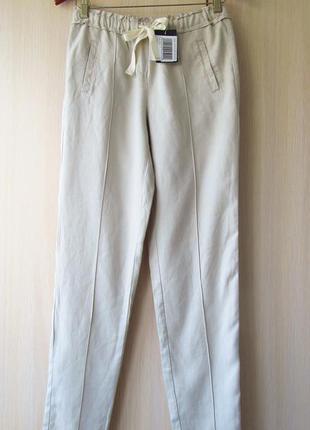 Летние брюки на резинке цвета тауп promod, s