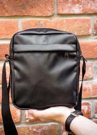 Мужская кожаная сумка mod.blackday через плечо5 фото