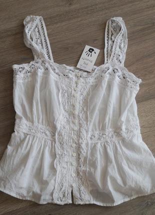 Warehouse- хлопковая блуза от английского бренда