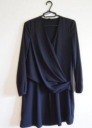 Стильное минималистичное платье mango с драпировкой1