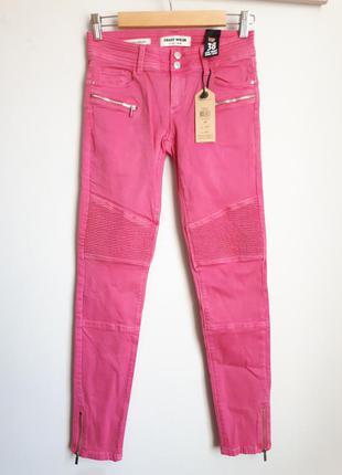 Байкерские скини розового цвета , с замочками внизу🏍