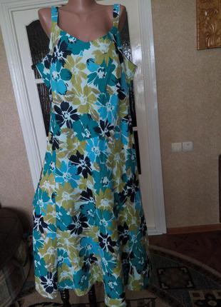 Платье натуральное, сарафан летний , разм. 20