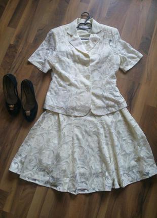 Жіноча костюм юбка майка блузка розмір-42