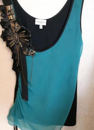 Роскошный нарядный топ майка футболка karen millen