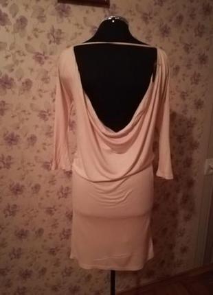 Платье новое бежевое светлое zara размер xs-s новое, открытая спина