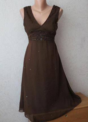 Xanaka- нарядное, шифоновое платье , s-m, сост.идеал