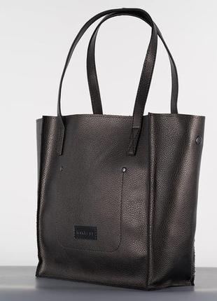 Бронзовая женская сумка - шоппер кожаная (экокожа) shopper 01 bronze