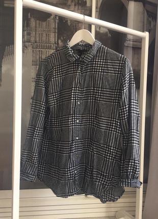 Клетчатая рубашка оверсайз, oversized h&m