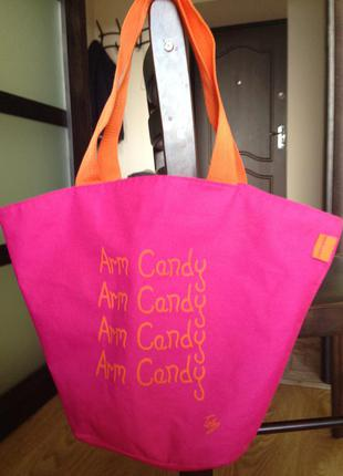Стильная розовая сумка-шоппер marie claire, print, текстиль