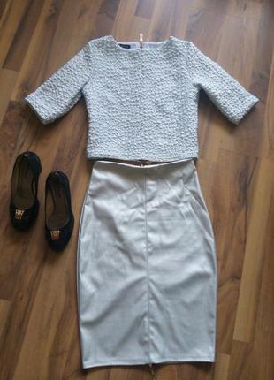 Женские костюм блузка юбка розмір-36