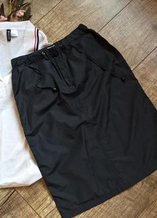 Лёгкая синяя юбка/карандаш/прямая от armani/спортивная/плащёвка/ориг