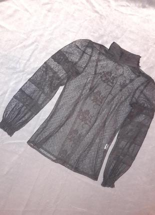 Кружевной топ блуза zara