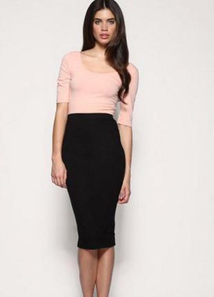 Модная  черная юбка карандаш от  papaya