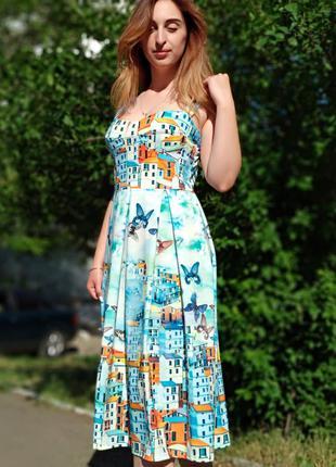 Летнее платье butterfly мама дочка family look