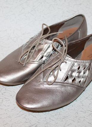 Шикарные кожаные туфли мокасины 40 размер 26,5 см стелька