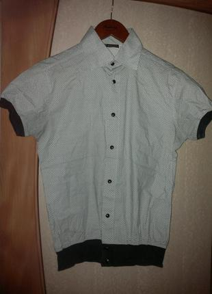 Оригинальная рубашка  angelo branduardi  на кнопках и на резинке