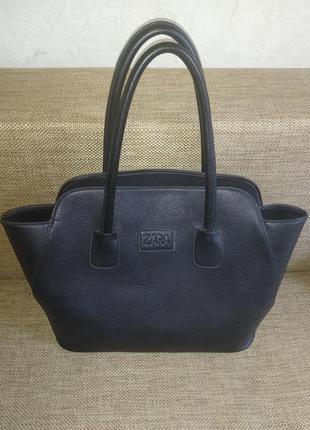 Стильная сумка из натуральной кожи zara