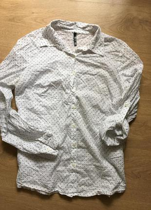 Классная рубашка в горошек