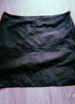 Короткая юбка под замш велюр atmosphere мини