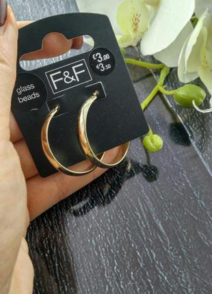 Серьги кольца, сток европа3 фото