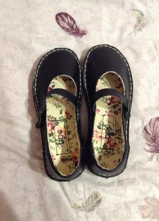 Кожаные туфли, балетки, мокасины bonprix 38 р