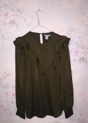 Блуза с рюшами от h&m