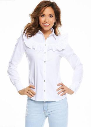Трендовая рубашка с рюшами воланами myleene klass