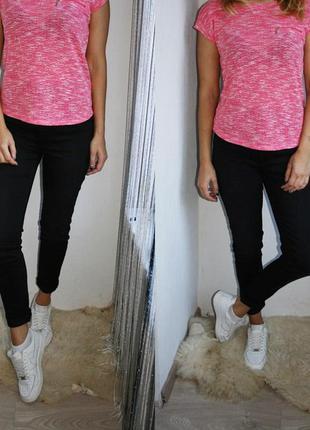 Идеальные черные джинсы скинни высокая талия джеггинсы американки узкачи