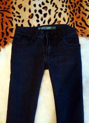 Синие скинни джинсы узкачи американки джеггинсы