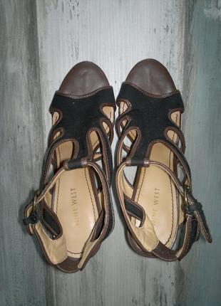 Молодёжные босоножки на высоком каблуке, 24 см