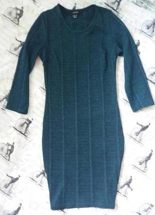Платье о обтяжку, рукав 3/4, платье по фигуре, бандажное платье