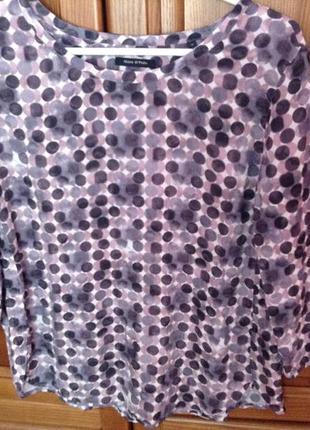 Стильная кофта блуза marc o polo 40евро размер.ультралегкая.