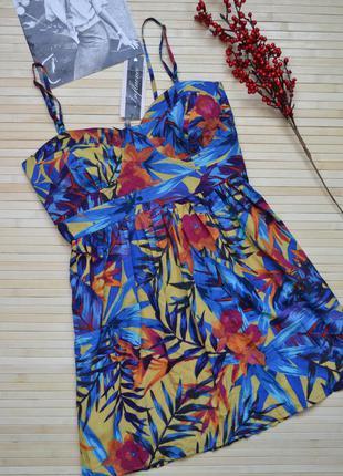 Тропическое мини платье tropical dresses influence